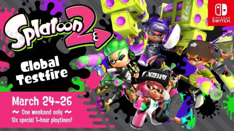 The Splatoon 2 Global Testfire will give Nintendo Switch owners six chances to play with other owner ...