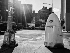 A Knightscope K5 captured on the street in New York City. (Photo: Business Wire)