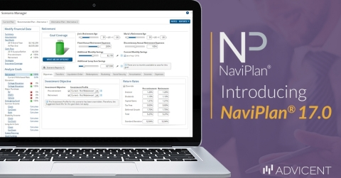 Introducing NaviPlan 17.0 from Advicent including a new client report, tax updates, and a new integration (Graphic: Business Wire)