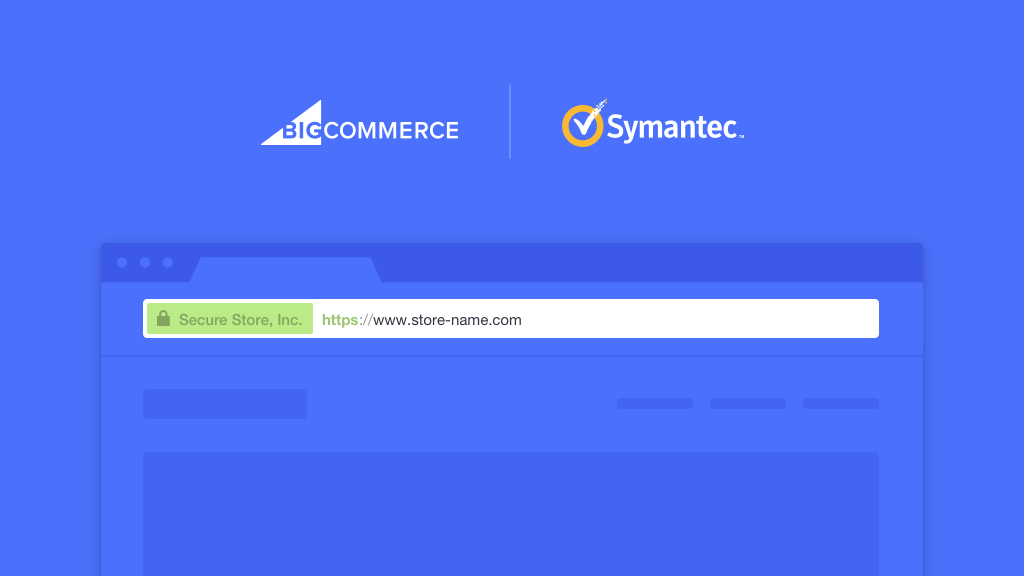 Symantec and BigCommerce partner to deliver Symantec's Encryption Everywhere solution for BigCommerce's thousands of customers. (Graphic: Business Wire)