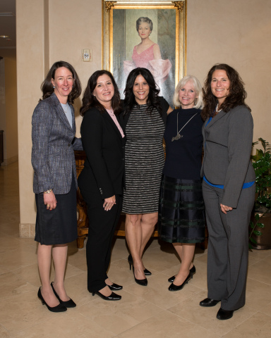 Virginia G. Piper Charitable Trust CEO Dr. Susan Pepin (left) with new 2016 Piper Fellows: Amy Schwabenlender, VP of Community Impact, Valley of the Sun United Way; JoAnne Chiariello, Director of Family Support Services, AASK—Aid to Adoption of Special Kids; Katherine Cecala, President, Junior Achievement of Arizona; Leah Fregulia, Head of School/CEO, Arizona School for the Arts. (Photo: Business Wire)