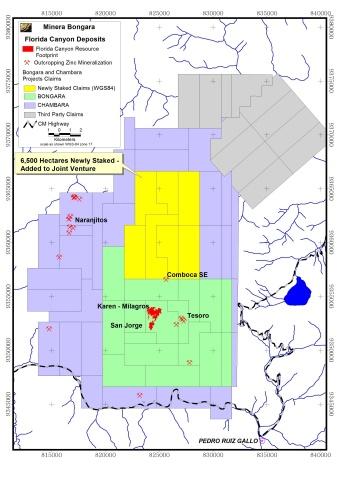Minera Bongara Map (Graphic: Business Wire)