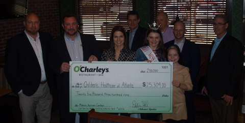 Atlanta area O'Charley's team members presented Children's Healthcare of Atlanta with a $25,309 donation check. (Photo: Business Wire)