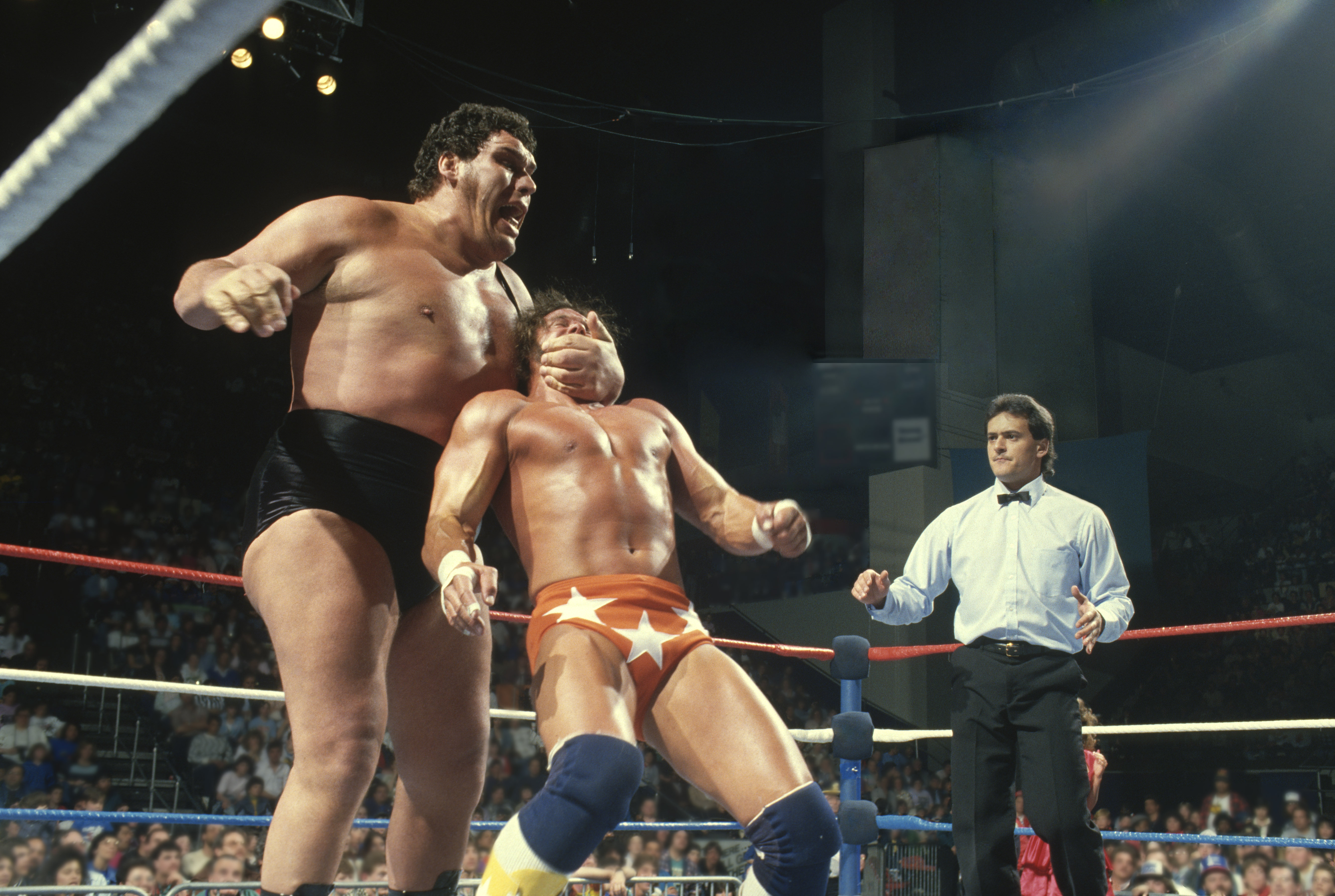 """""""Andre the Giant"""" and """"Macho Man"""" Randy Savage (Photo:Business Wire)"""