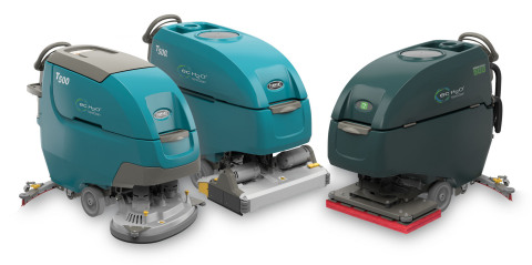 The T500 family of scrubbers offers versatility, productivity and tackles one of the biggest customer complaint points — batteries — with the new Smart-Fill™ automatic battery watering system. (Photo: Business Wire)