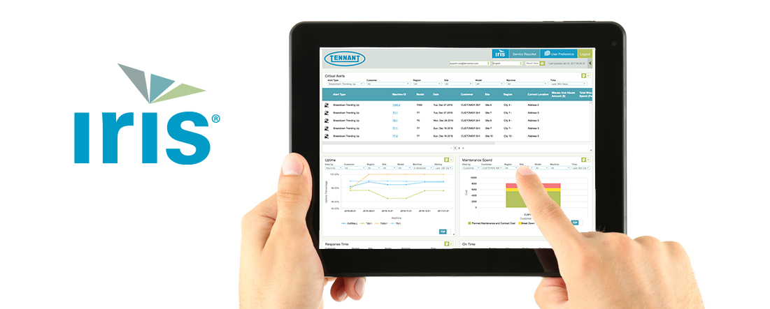 Increase productivity, reduce cost to clean and make informed decisions with intelligent insights from IRIS® Asset Manager. (Photo: Business Wire)