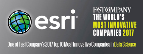 Esri Ranks among Fast Company's Top 10 Most Innovative Companies in Data Science. (Graphic: Business Wire)