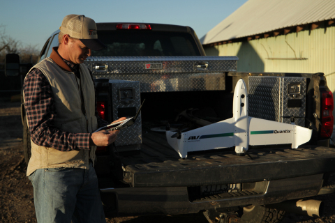 AeroVironment Quantix drone and Decision Support System developed with growers, for growers. (Photo: Business Wire)