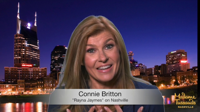 "Rayna Jaymes and Deacon Claybourne of the hit CMT show ""Nashville"" will be honored with their own wax figures at Madame Tussauds Nashville. This video shows our studio artists working with Connie Britton and Charles Esten who portray the ""Nashville"" legends."