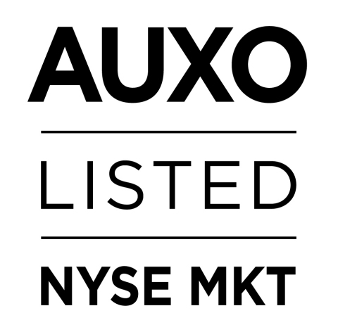 AUXO on NYSE MKT (Graphic: Business Wire)