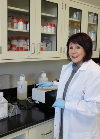 Cohava Gelber, PhD, MBA, Co-Founder, Caerus Discovery, LLC, a biotechnology company, works to discover an antibody for the Zika virus at the Prince William Science Accelerator, Innovation Park, Prince William County, Va. (Photo: Business Wire)