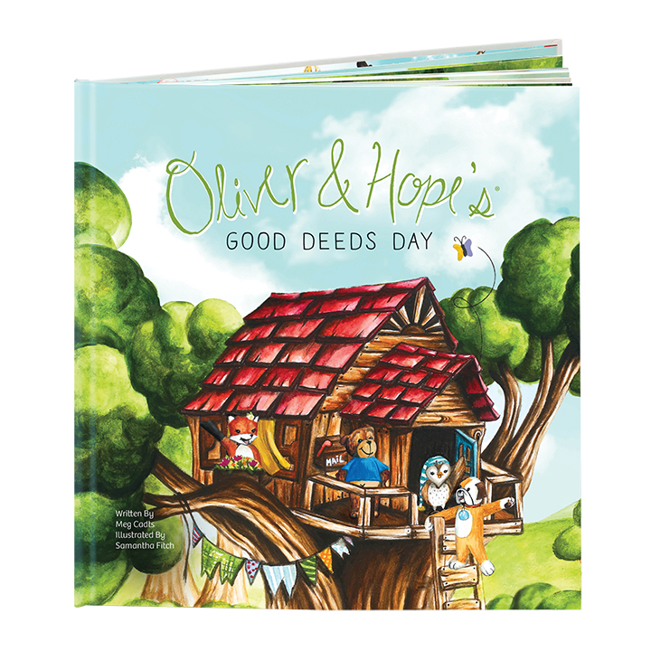 """""""Oliver & Hope's Good Deeds Day,"""" for children ages 3-8, is a fun, inspiring read that reveals true acts of kindness. Book is available at UHCCF.org/shop (Source: UnitedHealthcare Children's Foundation)."""