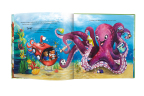"Characters in the new children's book, ""Oliver & Hope's Good Deeds Day,"" receive help from a playful Octopus. Book is available at UHCCF.org/shop (Source: UnitedHealthcare Children's Foundation)."