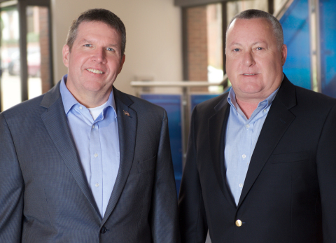 Jim Minge, president of Texas Trust Credit Union, and John DiChiaro, president of Qualtrust Credit Union. The two credit unions have agreed to merge. The combined credit union will have assets of $1.2 billion with more than 100,000 members and 21 locations. (Photo: Business Wire)