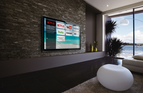 Enseo's streaming Over-The-Top app guest room interface (Photo: Business Wire)