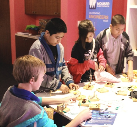 Mouser Electronics will be a major sponsor of Engineers Week, a weeklong event dedicated to encouraging young people's curiosity and inspiring the next generation of engineers. Hands-on activities will occur February 21–25 at the Fort Worth Museum of Science and History. (Photo: Business Wire)