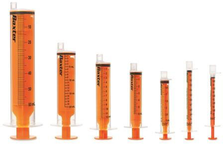 Baxter announced today the expansion of its nutrition care portfolio to include the new enteral ENFit syringes, which were designed to improve patient safety during enteral nutrition therapy by preventing misconnections or wrong-route administration that can cause severe patient injury. (Photo: Business Wire)