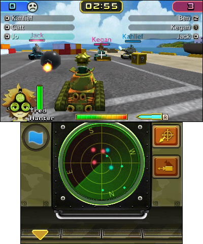 Calling all troopers for six-player tank warfare! Choose a tank, pick troopers and battle your friends via local wireless. (Graphic: Business Wire)