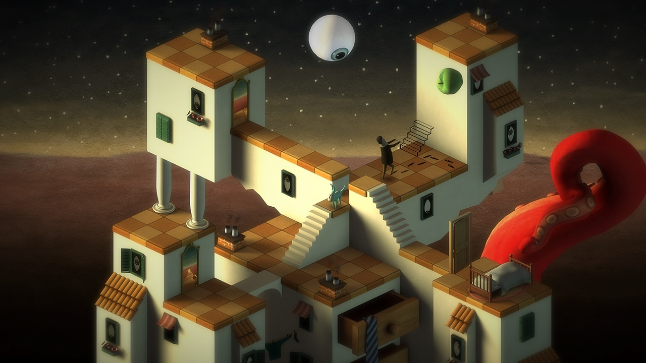 Back to Bed is a 3D indie puzzle game set in a unique and artistic dream world, in which you guide sleepwalker Bob to the safety of his bed. (Graphic: Business Wire)