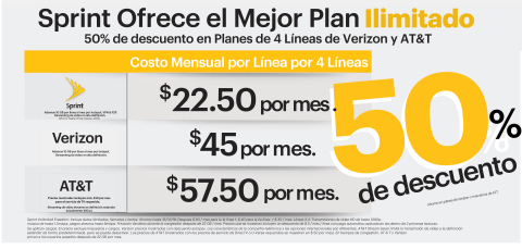 Ahorra en tus planes ilimitados con Sprint (Graphic: Business Wire)