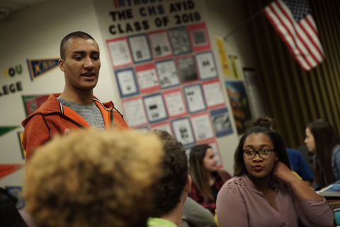 Two-time Olympic gold medalist Ashton Eaton Champions Nike's Commitment to Preparing Oregon Students for Future Success (Photo: Business Wire)