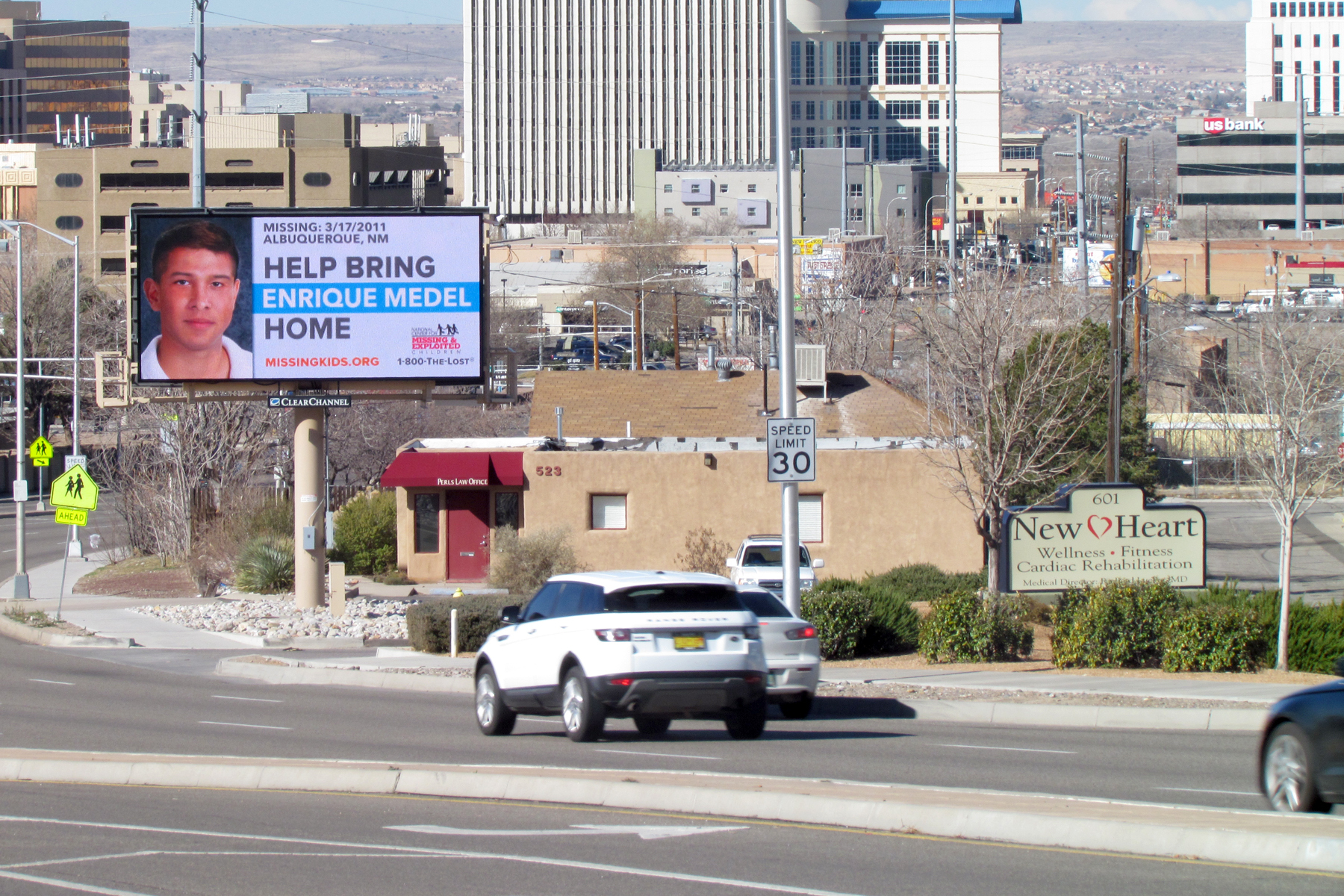 Digital billboards are up in Albuquerque, N.M. working to find Enrique Medel. (Photo: Business Wire)