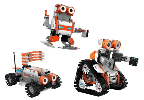 The AstroBot Kit is the first Jimu Robot Kit that builds three distinct form categories: humanoid, anthropomorphic wheeled vehicle and treaded mobile robot. (Photo: Business Wire)