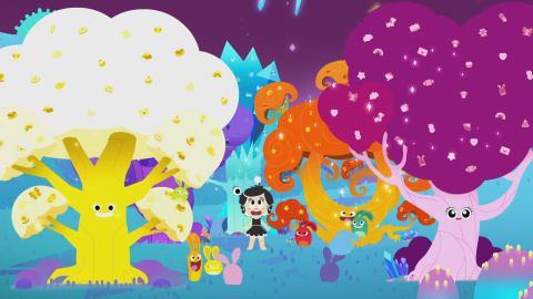 Produced by Hasbro Studios, the HANAZUKI Full of Treasures animated digital series transports viewers into a distant galaxy full of colorful moons, and a mysterious dark force that threatens this new world. Watch the full trailer here: https://www.youtube.com/watch?v=6efEKsIxU7Q (Photo: Business Wire)