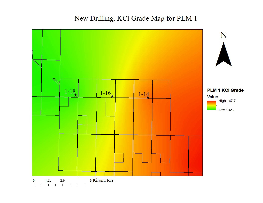 *Figure 1: KCl Grade for the Patience Lake 1 (PLM1) sub-member, the initial target zone. (Graphic: Business Wire)