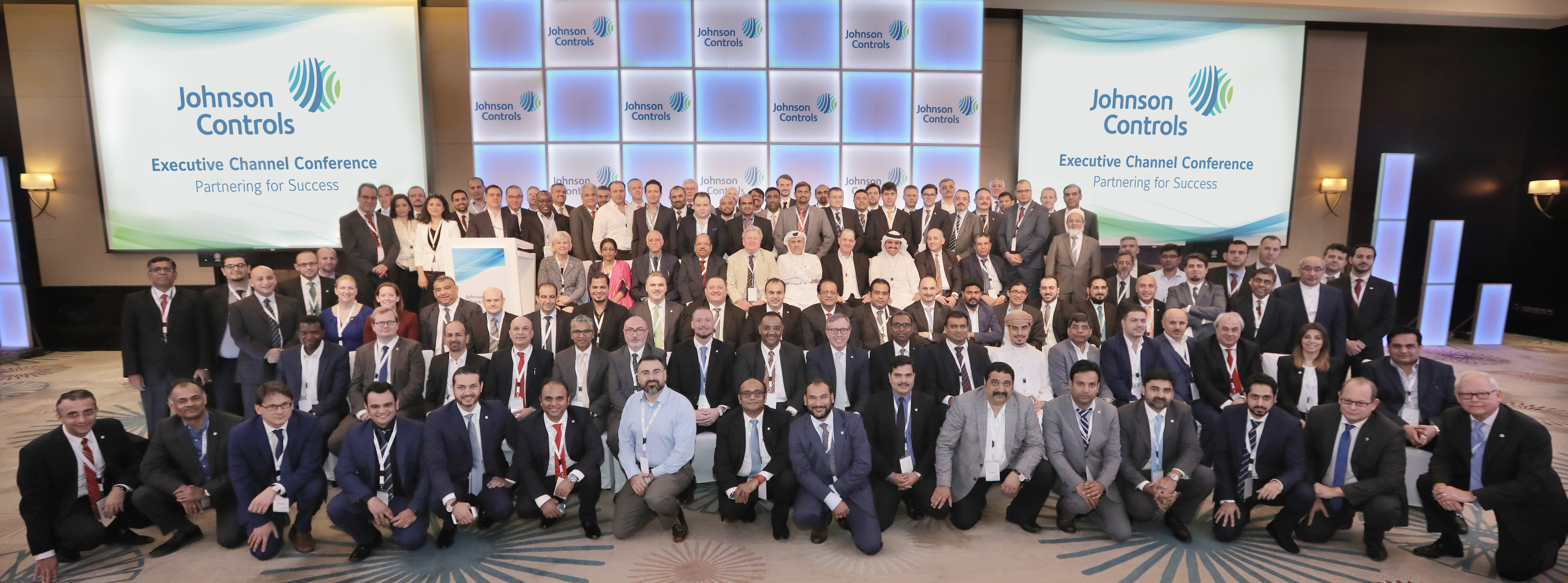 Johnson Control's executive leadership team with channel partners from Middle East and Africa (Photo: ME NewsWire)