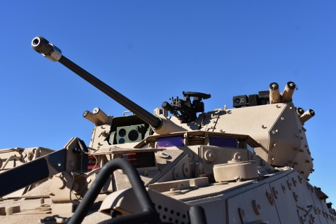 Orbital ATK's MK44 Bushmaster Chain Gun is easily integrated into various turrets and weapons stations. The MK44 is shown here integrated into the Kongsberg Protector remote turret on top of a General Dynamics Land Systems' LAV. The MK44 is available as a 30mm or 40mm configuration. (Photo: Business Wire)