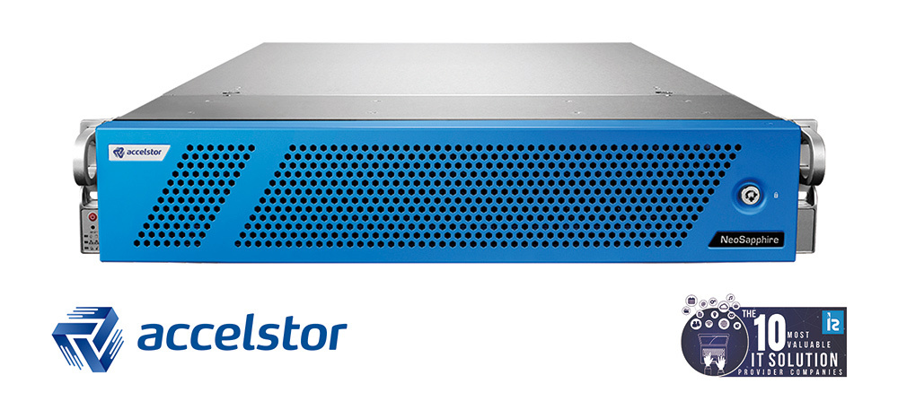 Powered by FlexiRemap software, AccelStor's NeoSapphire series of all-flash storage products deliver super-fast data access with low TCO. (Graphic: Business Wire)