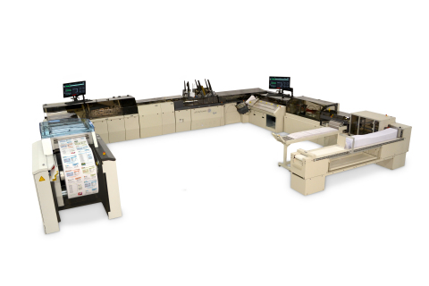 The Pitney Bowes Epic Inserting System is engineered to drive a reduction in total cost of ownership for high-volume mailers. US-based Financial Statement Services and UK-based Communisis are among the production mail and marketing services firms who have chosen the solution. (Photo: Business Wire)