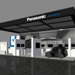 Panasonic booth image at Mobile World Congress in Barcelona (Graphic: Business Wire