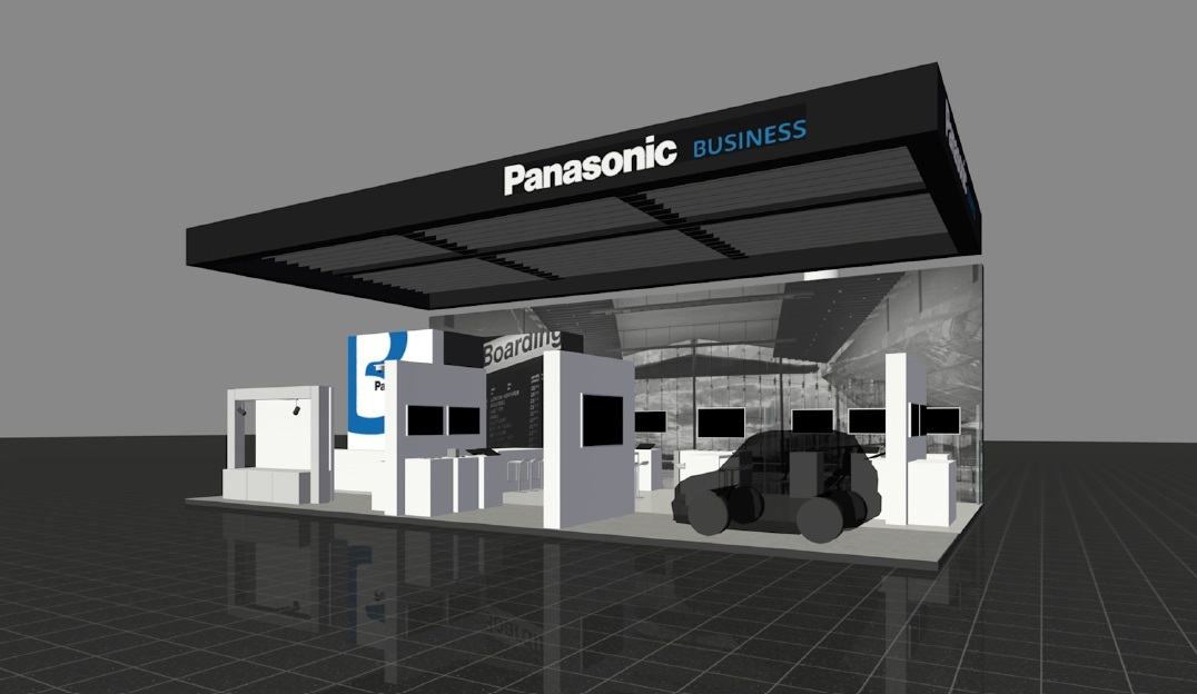 Panasonic booth image at Mobile World Congress in Barcelona (Graphic: Business Wire)
