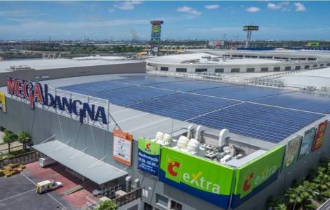 Phoenix Solar engineered 1 MWp photovoltaic system atop IKEA Southeast Asia's Megabangna mall in Thailand. For editorial use free of charge; Source: Phoenix Solar (Photo: Business Wire)