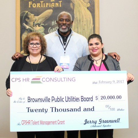 CPR HR Consulting awards the Brownsville Public Utilities Board $20,000 Talent Management grant. (Photo: Business Wire)