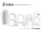 Photo shows the TrackNet Tabs solution, including Tabs hub, smartphone app and a variety of sensors and wearables. (Graphic: Business Wire)