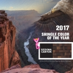 Owens Corning will display its 2017 SHINGLE COLOR OF THE YEAR – Sedona Canyon – at the International Roofing Expo (IRE) starting March 1 in Las Vegas. (Photo: Business Wire)