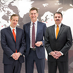 Norton Rose Fulbright and Chadbourne & Parke announce that they will combine in the second quarter of 2017. (From left) Daryl Lansdale, Peter Martyr and Andrew Giaccia. (Photo: Business Wire)