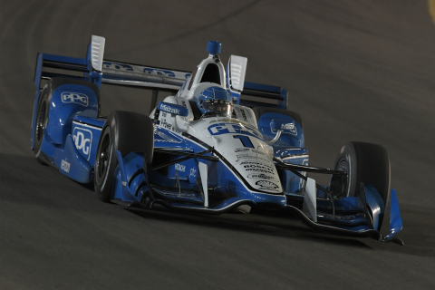 Simon Pagenaud participates in pre-season testing at Phoenix International Raceway behind the wheel of his No 1 PPG DallaraChevrolet IndyCar (Photo: Stratasys).