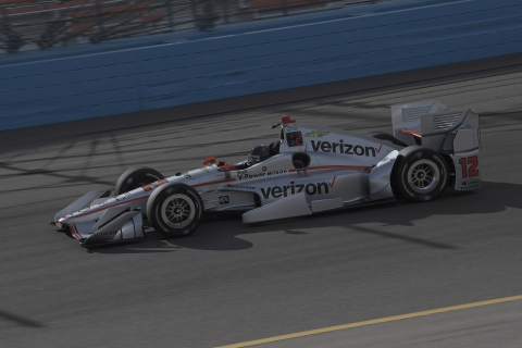 Will Power participates in pre-season testing at Phoenix International Raceway behind the wheel of his No 12 Verizon DallaraChevrolet IndyCar (Photo: Stratasys).