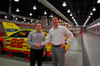Stratasys President, Americas, Rich Garrity, with Tim Cindric, Team Penske President (Photo: Stratasys).