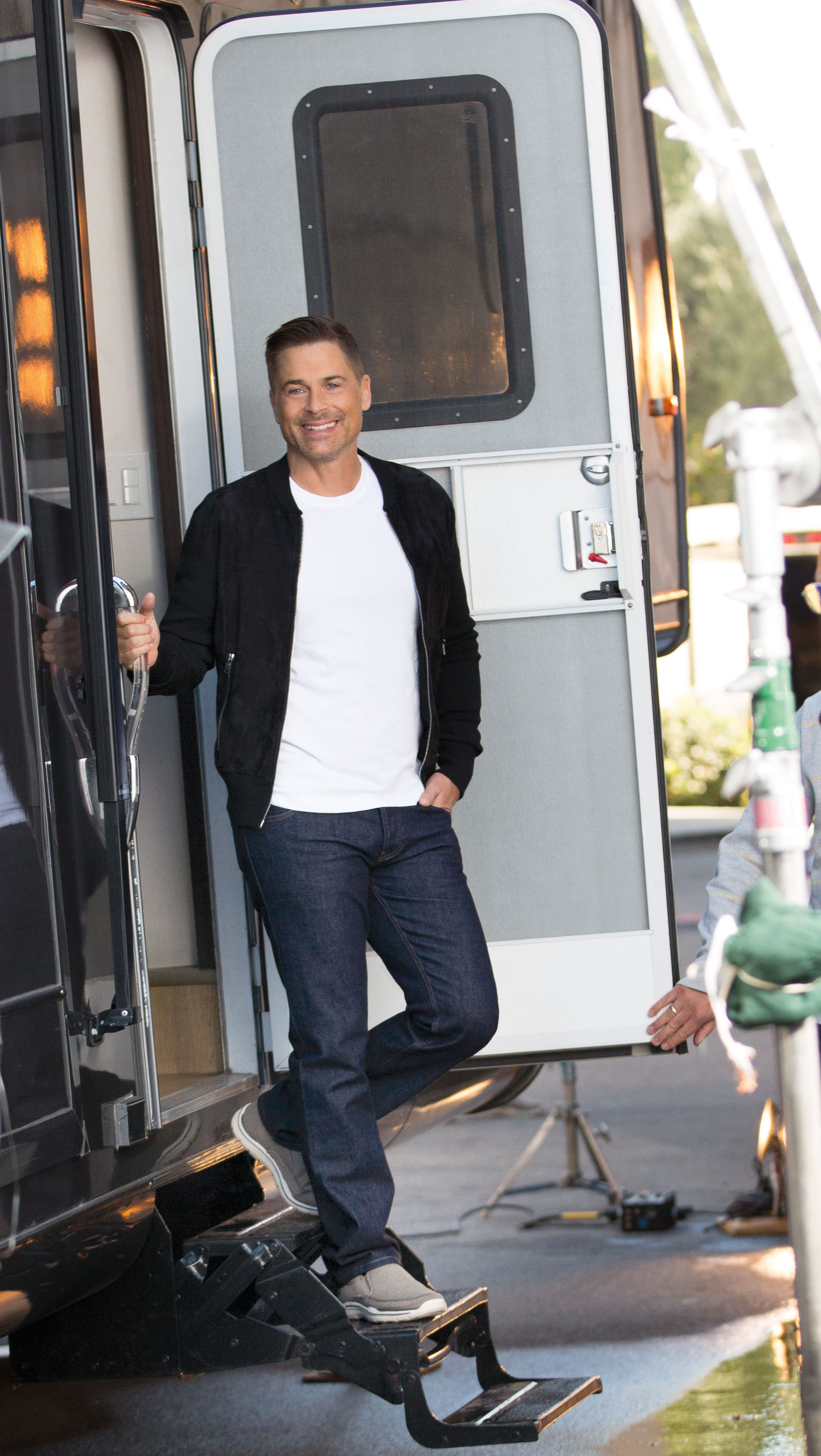 Rob Lowe on set for his new SKECHERS campaign. (Photo: Business Wire)