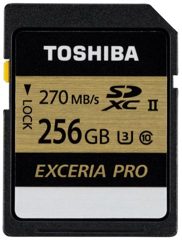 東芝:「EXCERIA PRO(TM)」UHS-IIインターフェース対応SDメモリカード「SDXU-Cシリーズ」256GBモデル (写真:ビジネスワイヤ)