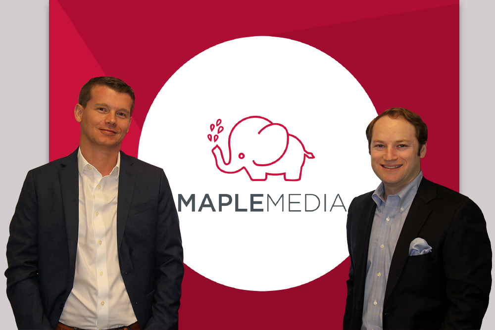 Maple Media Co-Founders COO Clark Landry (left) and CEO Michael Ritter (right). (Photo: Business Wire)