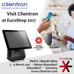 Samenvatting: Clientron presenteert afrekensystemen op EuroShop 2017