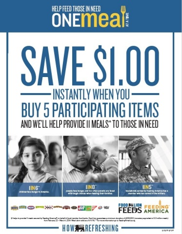 """Food Lion Feeds Partners with Customers and Vendors to Nourish Local Families through """"One Meal at a Time"""" Campaign (Photo: Business Wire)"""