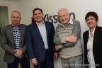 (L-R) Tamás Bíró, Gary Hiller, Raphael Mechoulam, Shoshi Keynan. Courtesy Phytecs and Yissum. Copyright: Debbi Cooper.