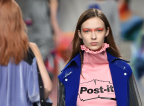 Inspired by the colors and shapes of Post-it Products, Fyodor Golan Autumn/Winter 2017 at LFW (Photo: Fyodor Golan)
